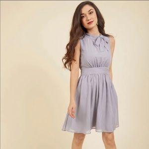 Lavender ModCloth Dress Top Tie